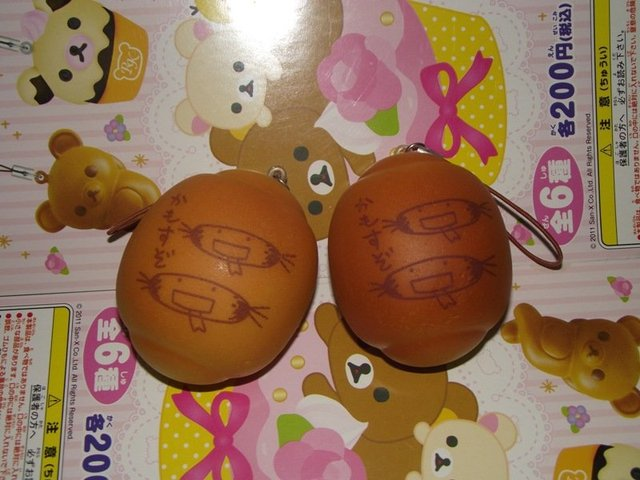 Simulation rilakkuma bread squishy Chinese mooncake