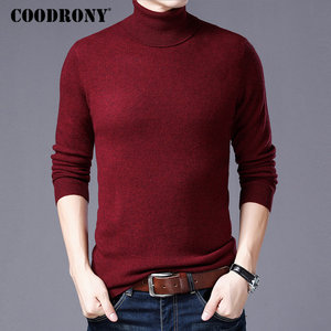 Image 3 - COODRONY Pure Merino Wool Sweater Men Winter Thick Warm Turtleneck Mens Sweaters Cashmere Pullover Men Christmas Pull Homme W004