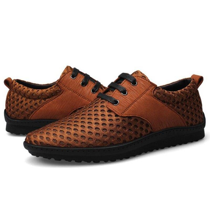 Willden Sapatos up Jack Size Respirável Casuais Dos Homens Calçados 38 Caminhada Primavera Leve 46 Confortáveis marrom De Plus Lace Preto qAwdCwz