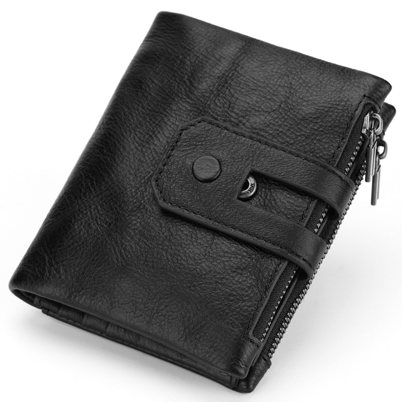 2018 New Arrival Genuine Leather Men's Wallet For Men Small Zipper Removable Organizer Wallets Cash Carteira With Rfid Purse bfdadi 2018 new arrival hat genuine
