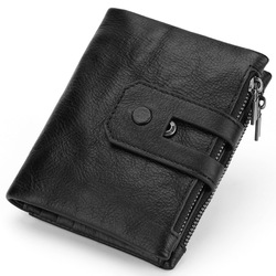 2018 New Arrival Genuine Leather Men's Wallet For Men Small Zipper Removable Organizer Wallets Cash Carteira With Rfid Purse