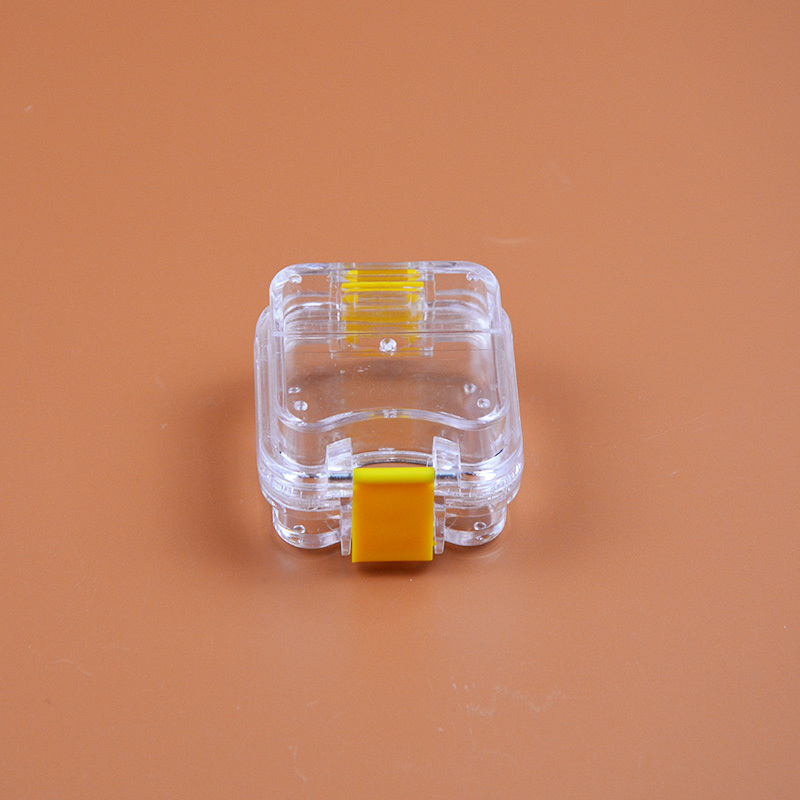 200 Pieces Packed Membrane Tooth Box Dental Storage Box Dental Teeth Box with Translucent Film 2