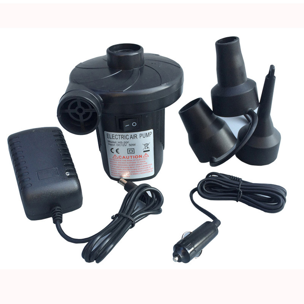 12v Electric <font><b>Air</b></font> Pump Airbed Toys Inflator Inflatable Car Camping Mattress Pool