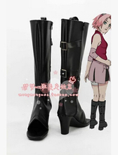 New  Haruno Sakura Anime Naruto Uchiha Itachi cosplay costume Temari Ninja shoes  cosplay boots