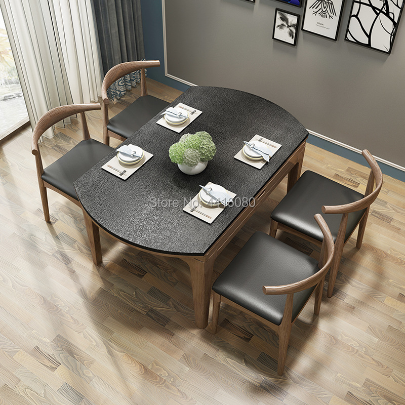 Firestone Retractable Dining Table Small Unit Nordic Dining Table Round Folding Dining Table Oak firestone performer 420 70r28 133d