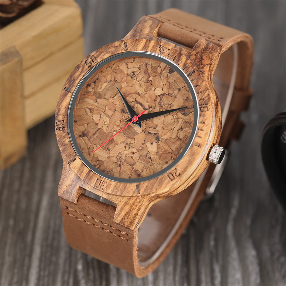 Nature Wooden Watch Handmade Beer Cork Dial Unisex Novel Deco Quartz Wristwatch Cool Clock Gift for Wine Fans relogio masculino (27)