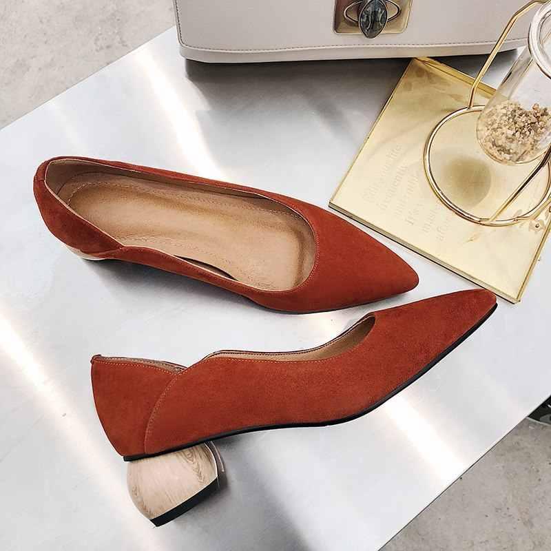 ALLBITEFO EURO boyutu 34-43 hakiki deri kadın topuklu ofis bayan parti ayakkabıları moda seksi yüksek topuklu kadın ayakkabıları yavru kedi topuklu