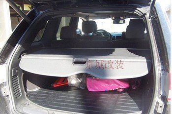 อลูมิเนียม + ผ้าด้านหลัง Security โล่ Cargo สำหรับ Jeep Grand Cherokee 2011 2012 2013 2014 2015