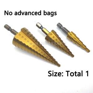 Сверла с титановым покрытием 4-32 мм 4-20 мм 4-12 мм метрические шестигранные спиральные режущие флейты ступенчатая сталь 4241 конус набор инструментов