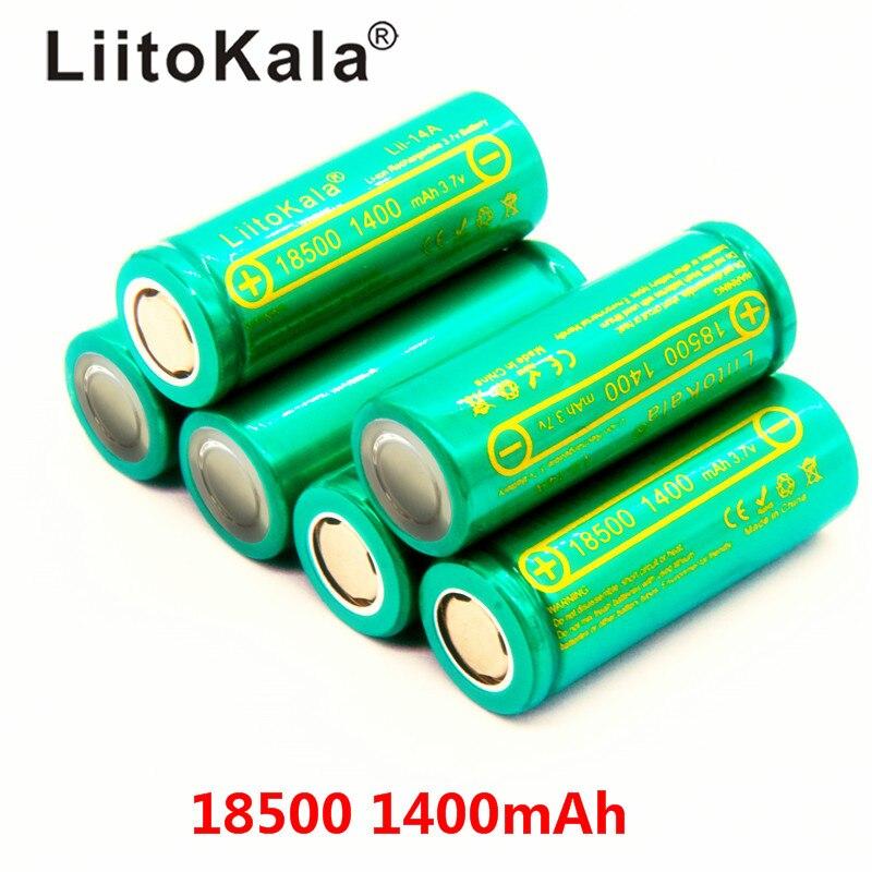 LiitoKala Lii-14A 18500 1400mAh 3.7V 18500 Battery Rechargeable Battery Recarregavel Lithium Li-ion Batteies For LED Flashlight