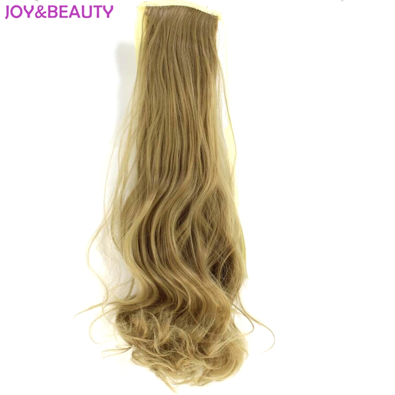 JOY BEAUTY High Temperature Fiber Synthetic Hair Wavy Ponytail 22inch Long 100g Women Hair Extensions Hairpiece