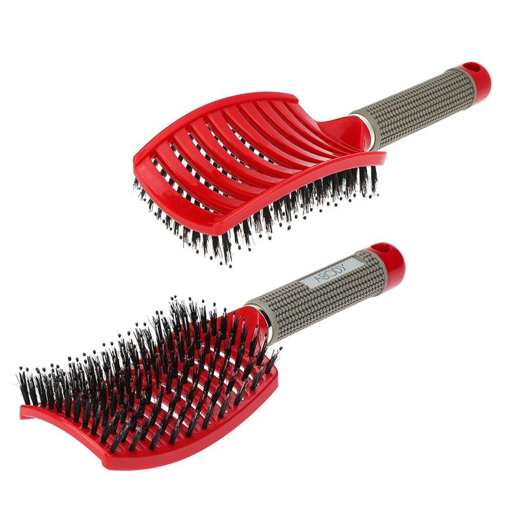 Boar Bristle Hair Brush set – Curved and Vented Detangling Hair Brush for  Women Hair Vent Brush Gift kit