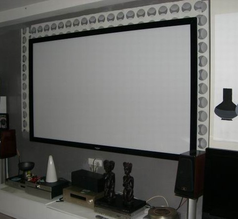 3d Silver Screen 135inch 16 9 Home Cinema Fixed Frame Projector