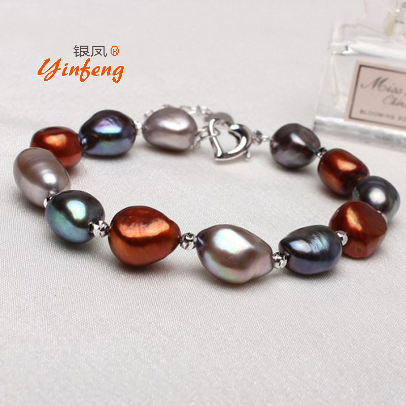 Irregular big pearl bangle beach style multi colors fashionable bracelet jewelry with baroque beads top quality