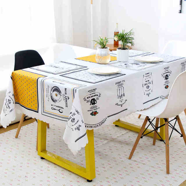 Marvelous Waterproof Table Cloth Anti Hot Garden Tea Table Cover Plastic Anti Oil  Tablecloth PVC