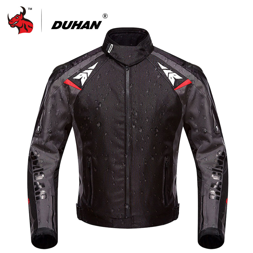 DUHAN Motorcycle Jacket Men Waterproof Moto Jacket Protective Gear Oxford Motocross Off Road Racing Jacket With