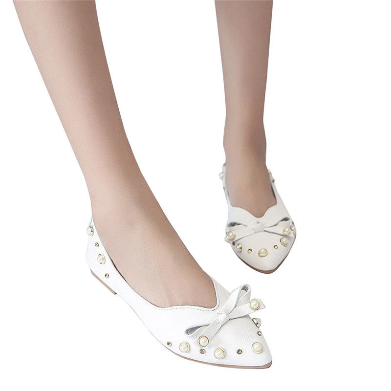 Spring Summer shoes woman Casual pumps Shoes Slip-On Bow Tie Singel Shoes pumps zapatos de mujer sapato feminino sapatos mulher sweet women high quality bowtie pointed toe flock flat shoes women casual summer ladies slip on casual zapatos mujer bt123