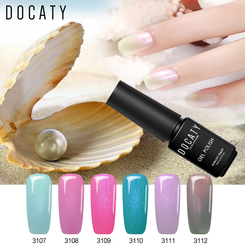 Gel Nail Polish Sale: Docaty Hybrid Lacquer Seashells Gel Nail Polish Sale