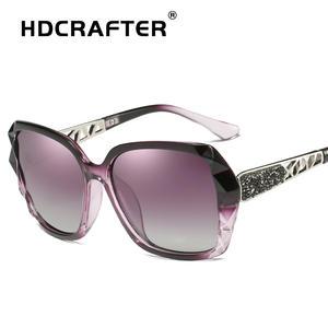 d1d6381e2e9 HDCRAFTER Luxury Sunglasses Women Polarized Elegant Rhinestone Ladies  Designer Sun Glasses Eyewear Accessories Oculos De Sol