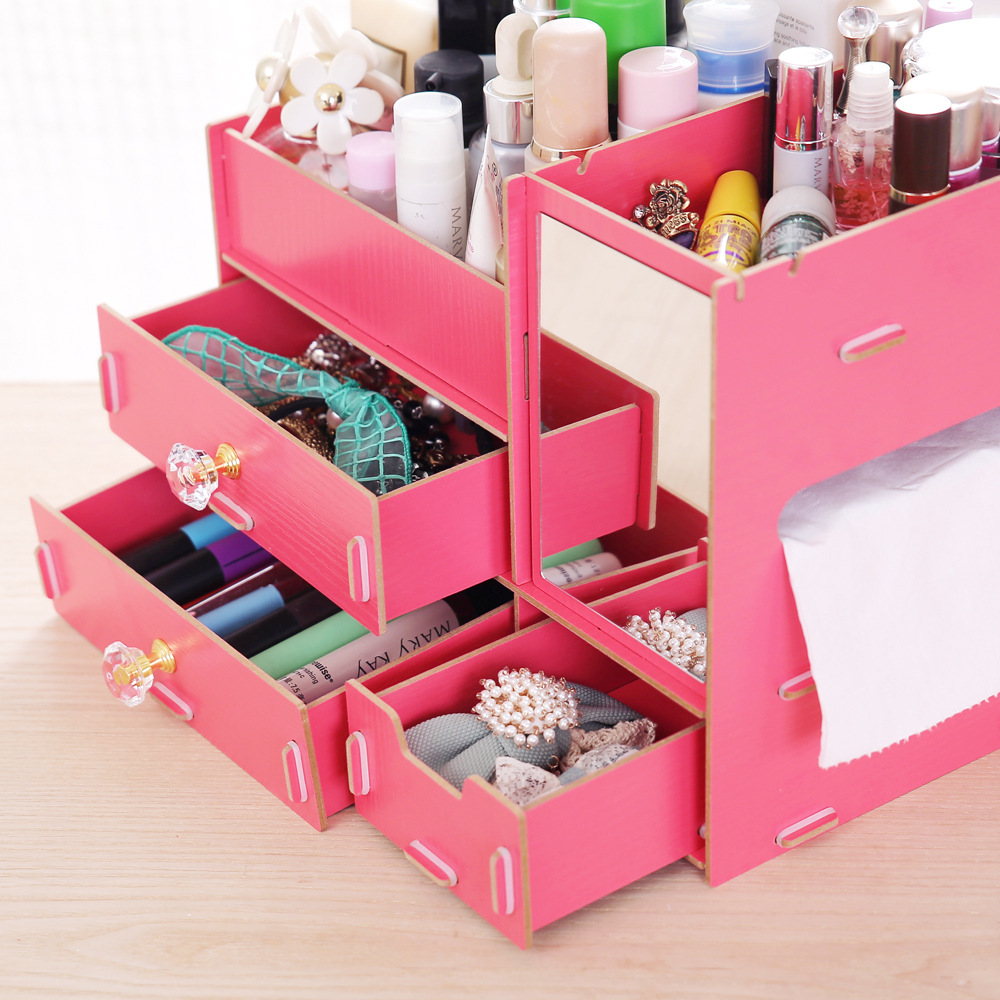 Aliexpress.com : Buy New L Size DIY Wood Cosmetic Organizer with ...