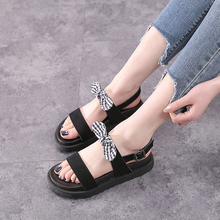 2019 Gladiator Women Sandals Platform Flat Black/Green Spring/Summer Female Shoes Casual Lady Woman Footwear