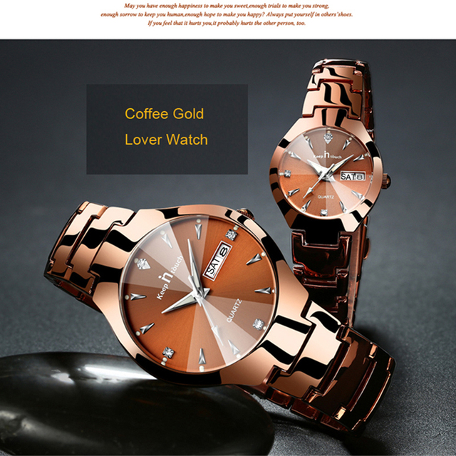 KEEP IN TOUCH Brand Luxury Lover Watches Quartz Calendar Dress Women Men Watch Couples Wristwatch Relojes Hombre 2017 With Box