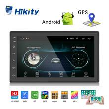 Hikity 2 din Radio samochodowe Android 7 HD Autoradio odtwarzacz multimedialny GPS ekran dotykowy auto audio samochodowe stereo samochód MP5 wsparcie kamery tanie tanio Tuner radiowy W desce rozdzielczej 12 v Angielski 1024*600 Radio Car 2 din car radio 178*102*22 Car Multimedia Player 0 95kg