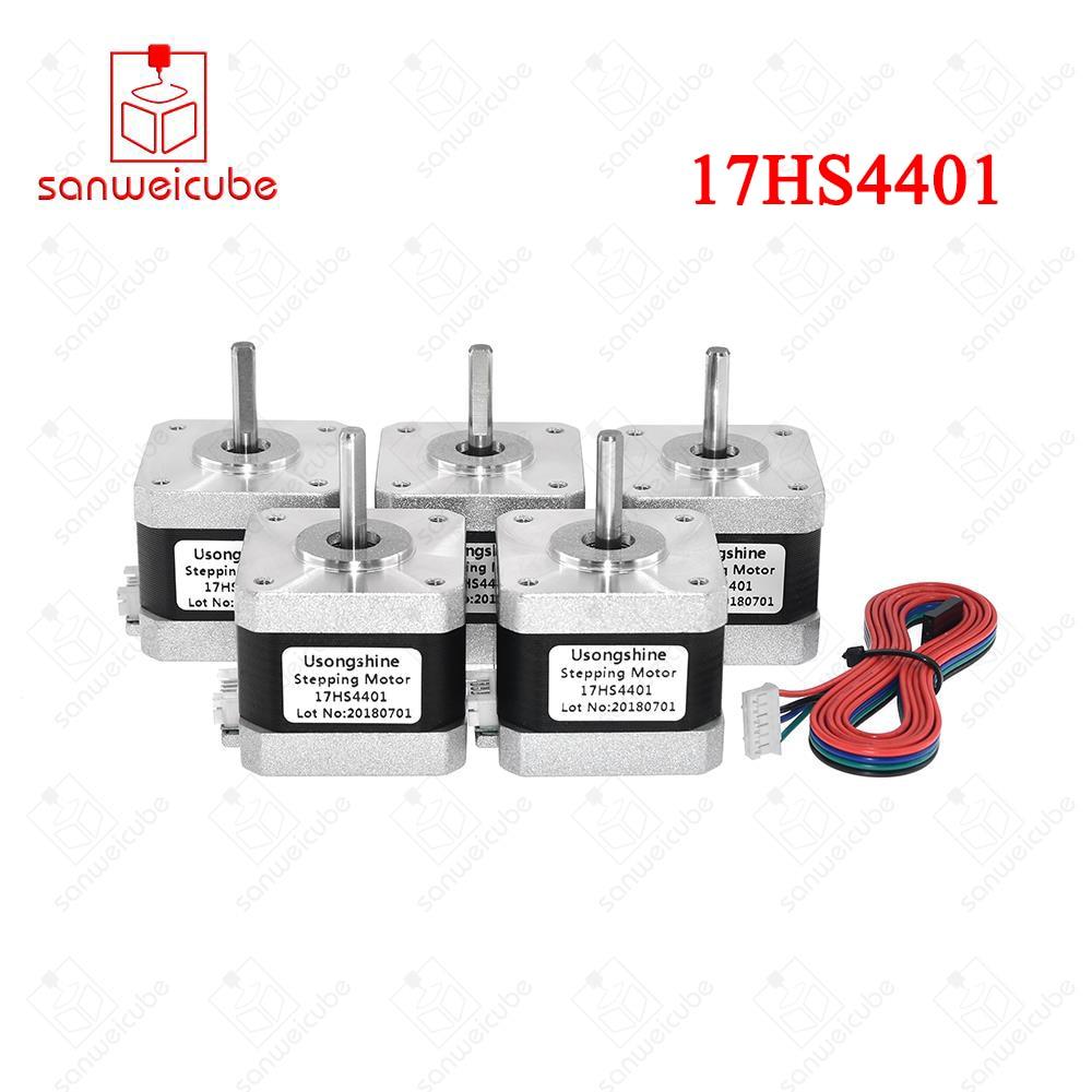 5 pz/lotto 17HS4401 4-piombo Nema17 Motore Passo-passo 42 motore Nema 17 motore 42 BYGH 1.5A (17HS4401) motore per 3d stampante e XYZ di CNC