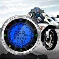 Universal Multi Function 20000 RPM Motorcycle Digital Speedometer Odometer Tachometer Trip Meter 399 KMH MPH Gear1 6