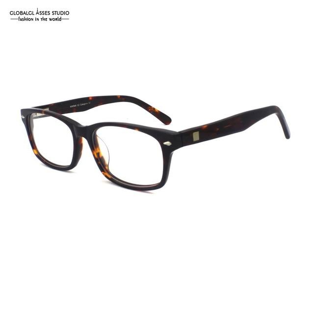 Brand Designer Fashion Big Square Lens Acetate Frame Women Men Demi Eyewear Flex Hinge Prescription Glasses Frame WW946 C2