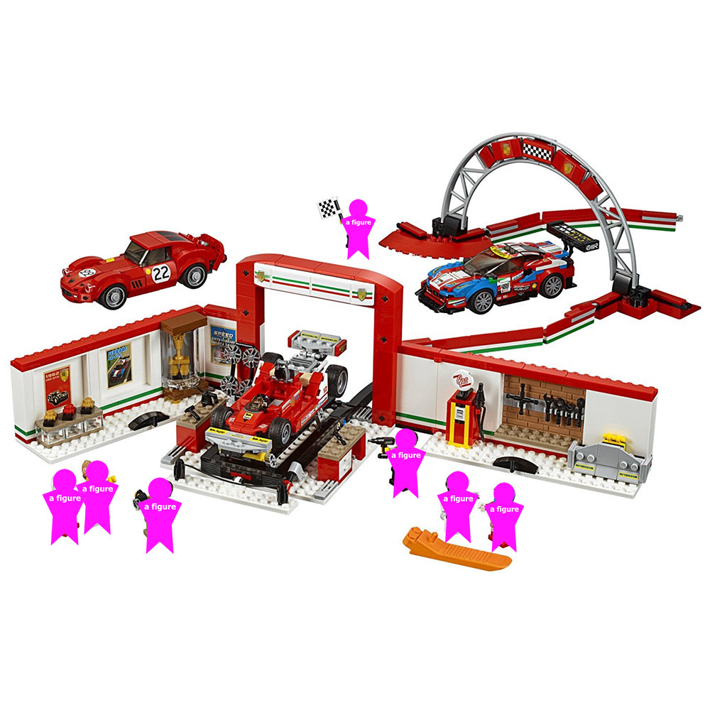 City SPEED CHAMPIONS Ultimate Garage Building Blocks kits Bricks Sets Classic Model Kids Toys For Children
