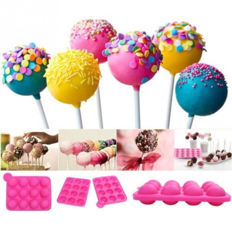 Varmt salg Pop Chocolate Cake Mold, Cookie Lollipop Lolly Candy Making Mold for kake Decoration Tools