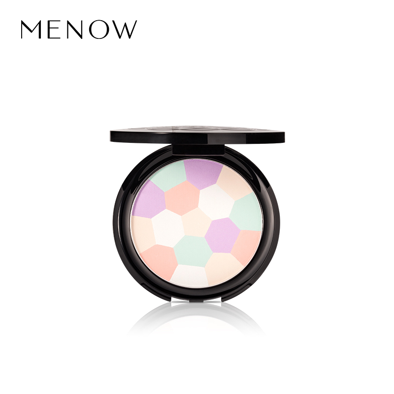 MENOW Brand Pressed Powder Satin Color Meteor Face Makeup Waterproof Sweet Pressed Powder Foundation Whole sale drop ship  L1706 o two o pressed powder hydrating enhance powder concealer cream brightening waterproof moisturizing powder 8colors