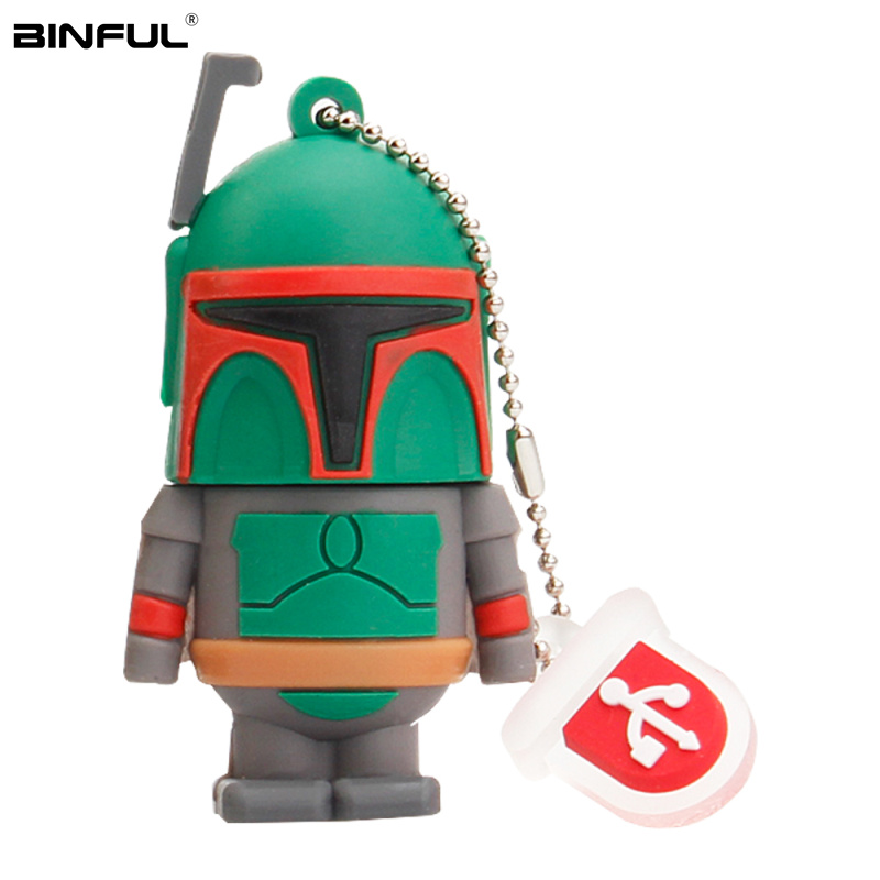 Popular Cartoon Star Wars Pen Drive Usb 2.0 Flash Memory Silicone Usb Flash Drive 128gb 64gb 32gb 16gb 8g 4g Pendrive Best Gift-in USB Flash Drives from Computer & Office