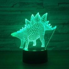 3D светодиодный модель dinosaurus животных модель светодиодный Творческий Игрушечные лошадки интерьера модель с светодиодный Кулон подарки