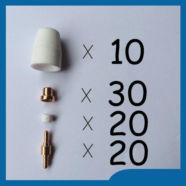 PT31 LG40 Plasma Electrode Tip Nozzle Accessory Consumable Fit CUT40 CUT30 80pcs