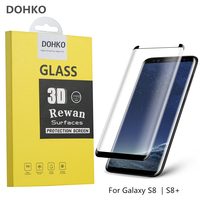 S8 Screen Protector DOHKO HD 3D Full Coverage Tempered Glass Screen Protector For Samsung Galaxy S8