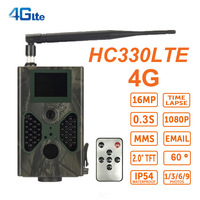 16MP Photo Traps 4G GSM MMS Hunting Camerera Wildlife HC330LTE Night Vision PIR Game Trail Camera Wild Cameras Trap