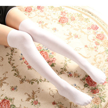 Fashion sexy girl student female striped cotton over the knee socks thigh high stockings