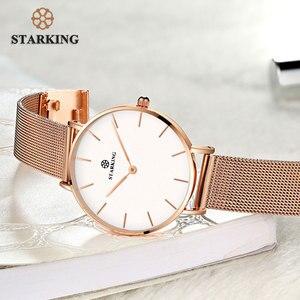 Image 3 - Starking Vrouwen Horloges Rose Gold Roestvrij Stalen Armband Quartz Vrouwelijke Minimalistische Horloge 2017 Fashion Casual Dames Jurk Horloge