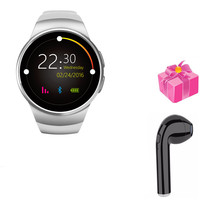 Smart watch+earphone/set smartwatch women for samsung gear s3 with heart rate monitor with SIM/TF card slot VS KW28 KW88pro