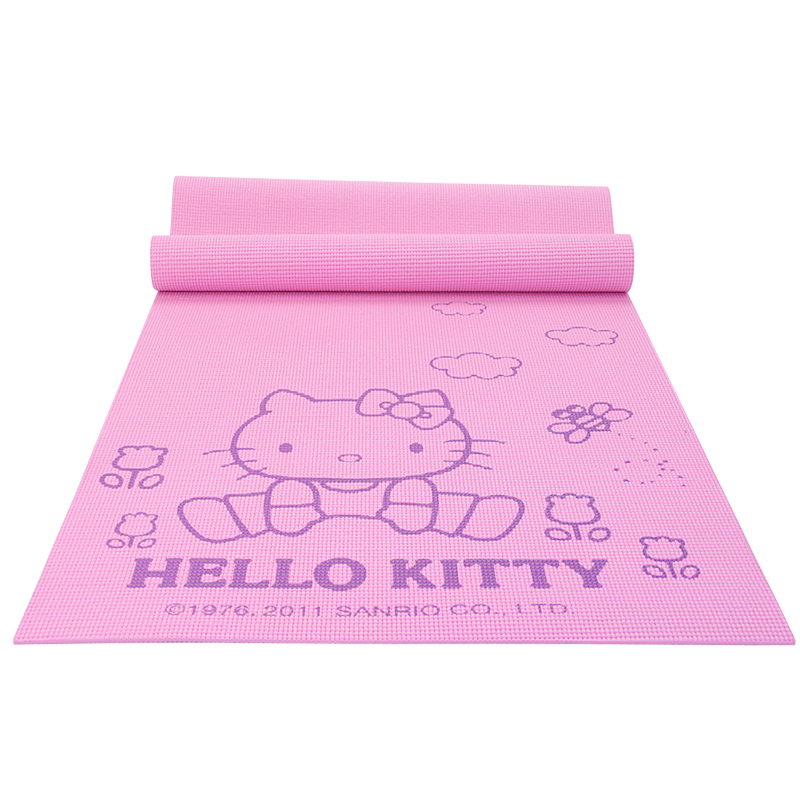 Hello Kitty 6mm exercise Yoga Mat Pad Non-Slip Lose Weight Exercise Fitness folding gymnastics mat for fitness