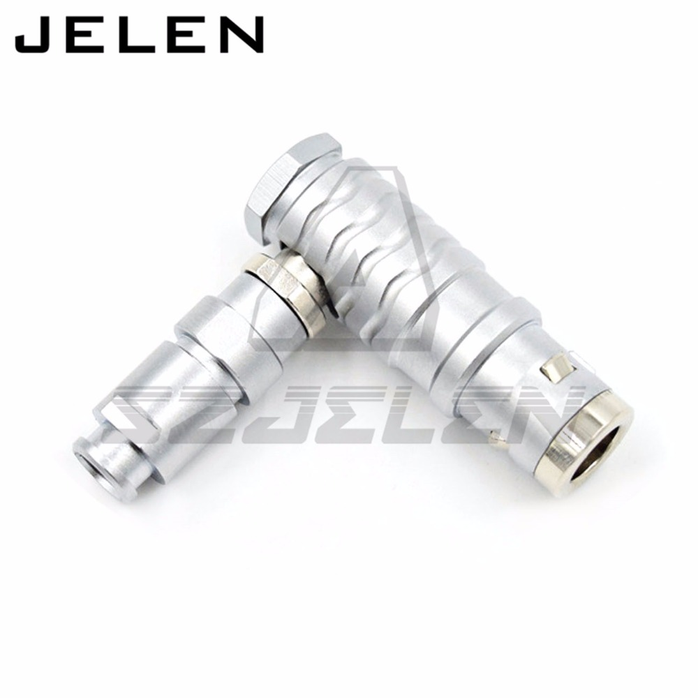 Waterproof Connector 3 pin plug , FHG.1K.303.CLAD,90 degree elbow plug ,Medical plugs, camera power connector 3 pin plug