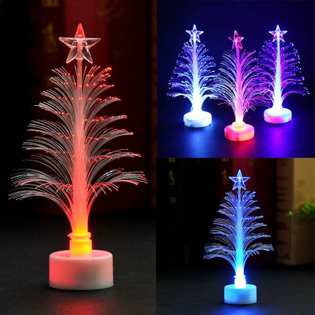 Color Changing Christmas Lights.Aliexpress Com Buy 10 Pcs Lot 7 Color Changing Colorful Changing Christmas Tree Decoration Led Light Night Lamp From Reliable Trees Suppliers On