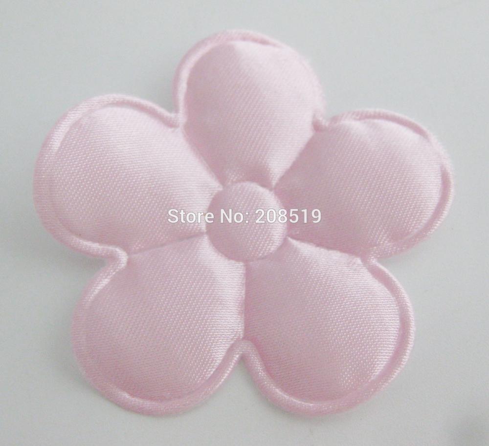 PANVGG 47 мм Цветочные аппликации 12 видов цветов DIY Скрапбукинг Цветочные нашивки 120 шт. головные уборы цветочный орнамент войлочный - Цвет: pink 47mm