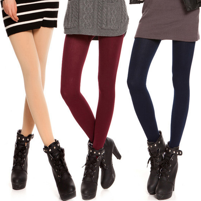 ec50bbd09 10 Colors Winter Sexy Women Cotton Knitted Tights Ladies Elastic Pantyhose  Stockings Collant Plus Size