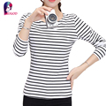 Plus Size 4XL Women Striped T Shirt 2016 New Fashion Autumn Winter Bottoming Long Sleeve O-neck T-shirt 3XL Casual Tops tshirt