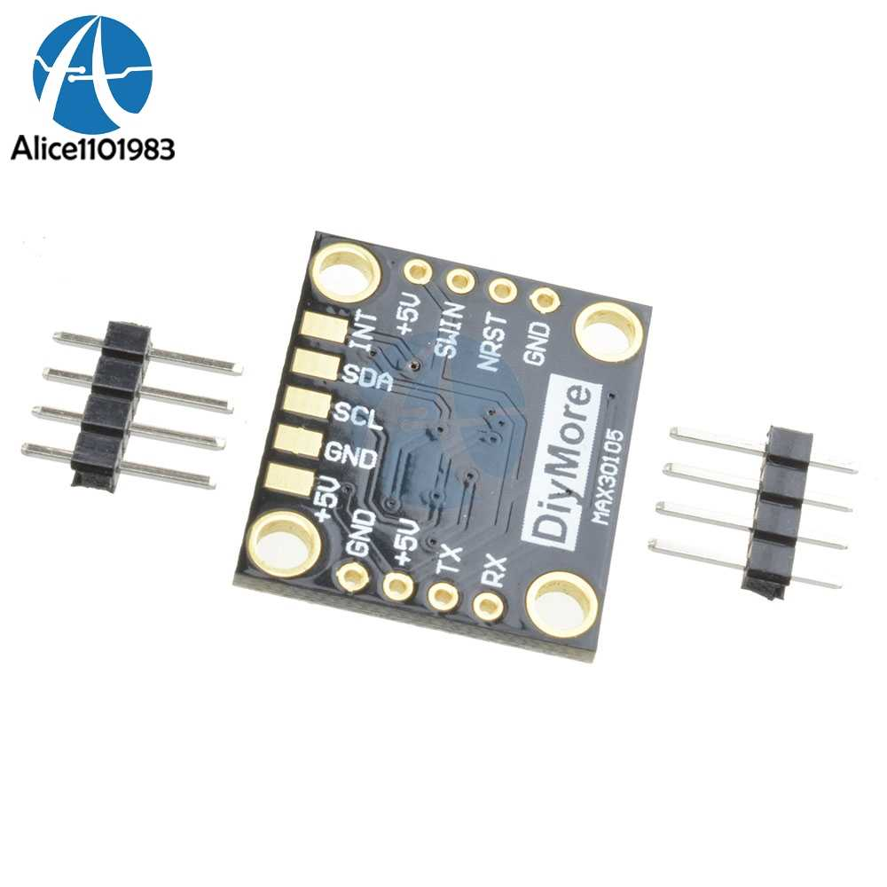 DC 5V IIC I2C MAX30105 Particle Optical Sensor Photodetectors Board Module  Smoke Detection Detector With Pins High Accuracy