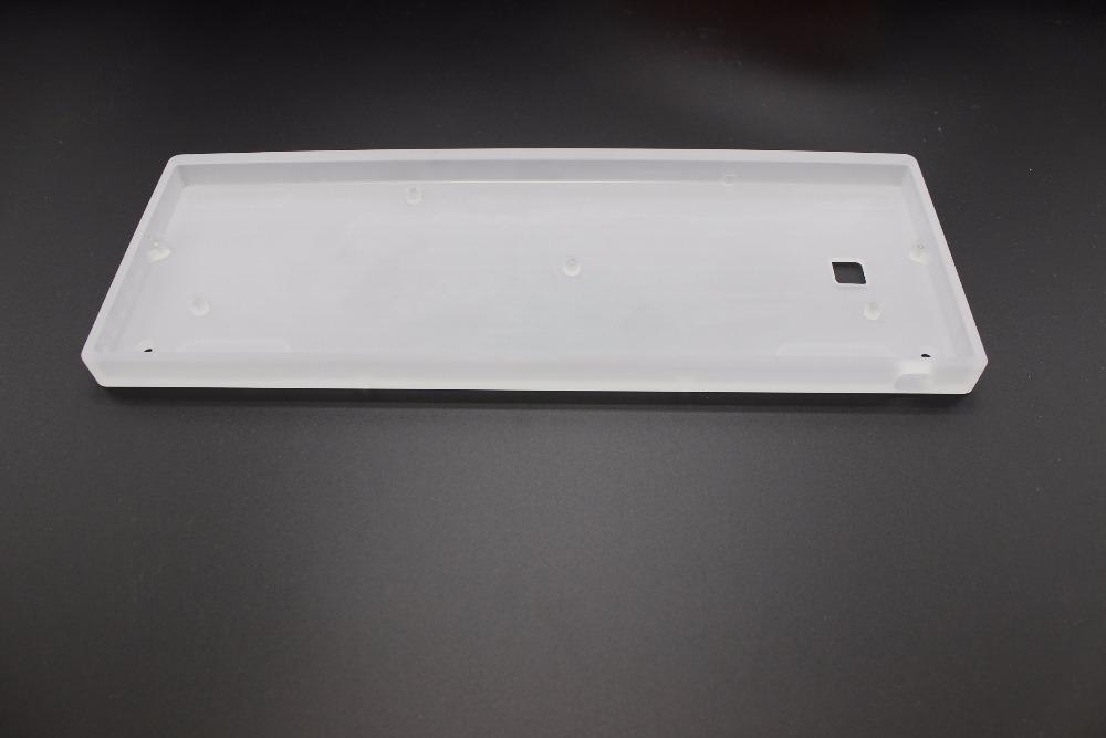Prix pour En gros Acrylique CNC Cas Lait Coque PCB Costar Plaque À La Main Fil Pour 60% GH60 Mini Clavier Mécanique