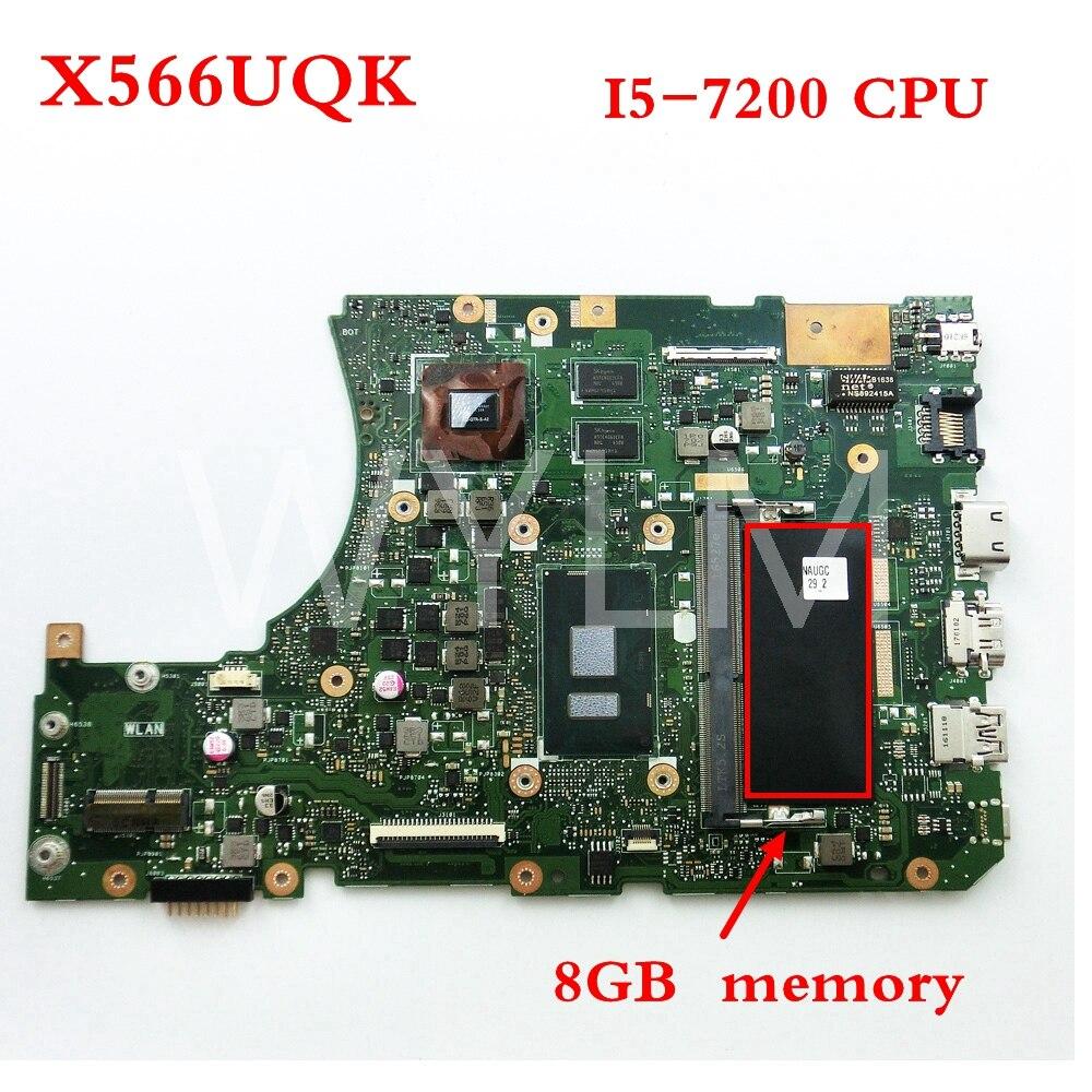 X556UQK I5-7200 CPU Avec 8 gb RAM carte mère Pour ASUS X556UV X556U X556UQK X556UQ mère d'ordinateur portable Testé Travail LIVRAISON GRATUITE